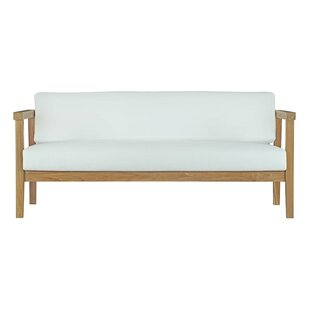 Annalese Outdoor Teak Loveseat with Cushions