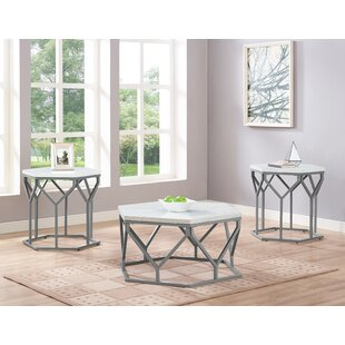 Dannie 3 Piece Coffee Table Set