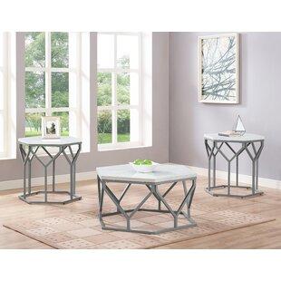 Dannie 3 Piece Coffee Table Set