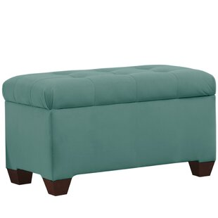 Alcott Hill Velvet Upholstered Storage Be..