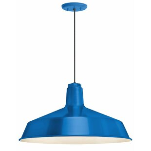 Jeffries 1-Light Dome Pendant by Breakwater Bay