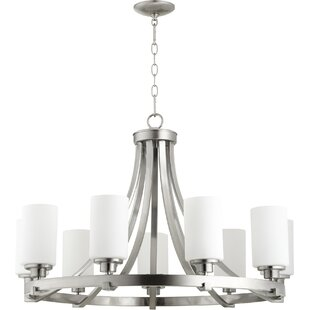 Quorum Lancaster 9-Light Shaded Chandelier
