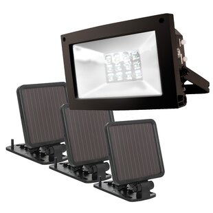 Maxsa Innovations Super Bright Solar 12 Light LED Flood Spot Light