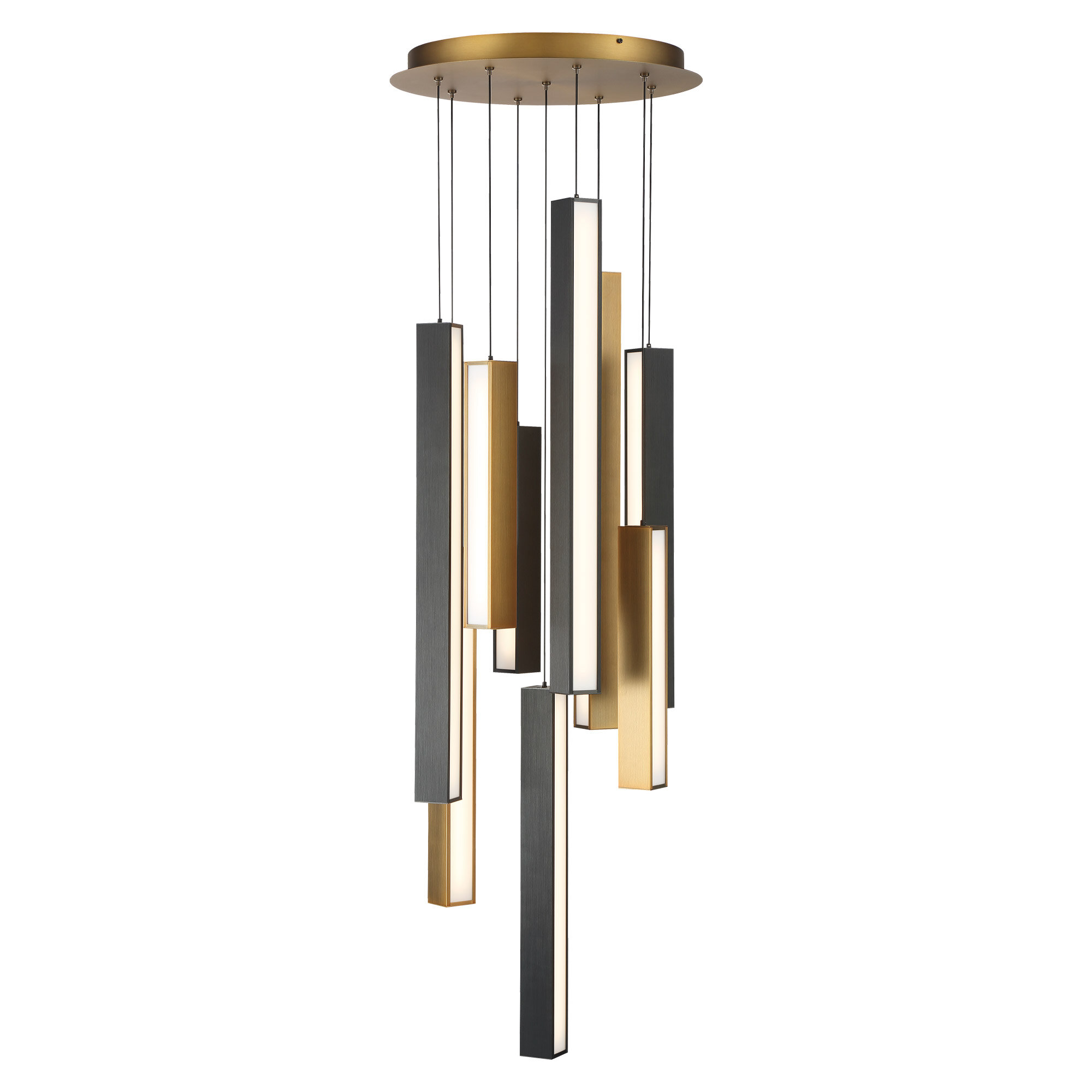 Modern Forms Chaos 9 Light Cluster Square Led Pendant Wayfair