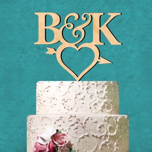 Personalized Arrow Heart and Arrow Cake Topper