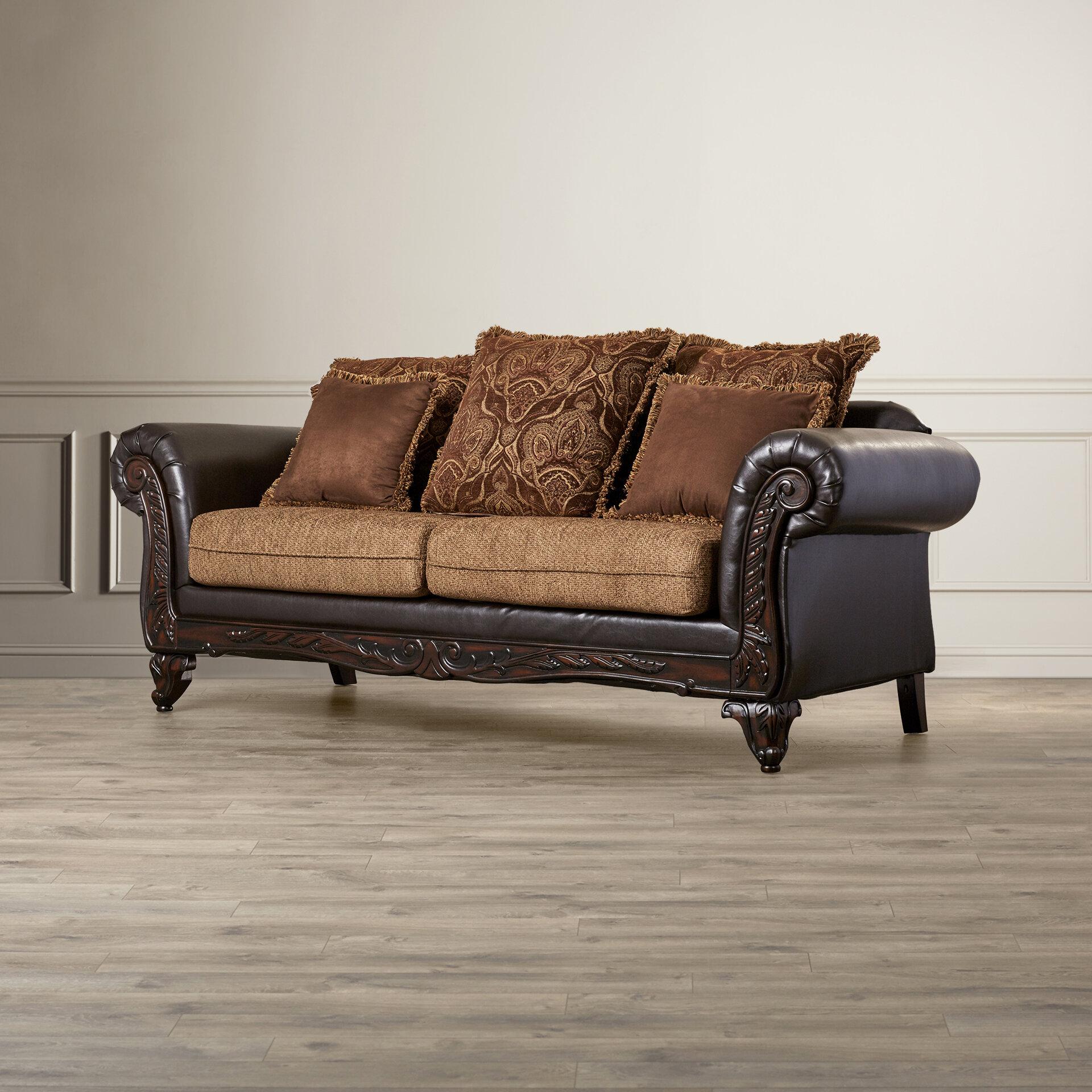 sofa sofas p mink couch espresso polyester rta serta brown loveseats paolo san