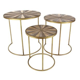 3 Piece Metal/Wood End Table Set by Cole ..