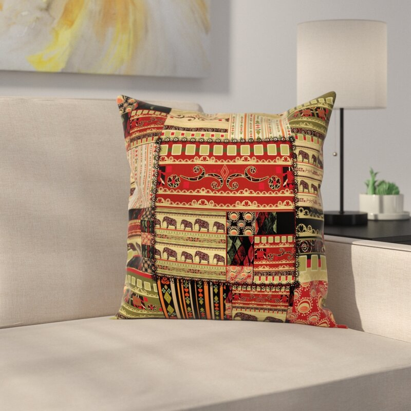 East Urban Home African Patchwork Style Asian Square Pillow Cover Awesome Asian Pillow Covers
