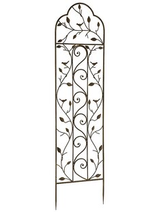 World Source Partners Nature Metal Arched Trellis