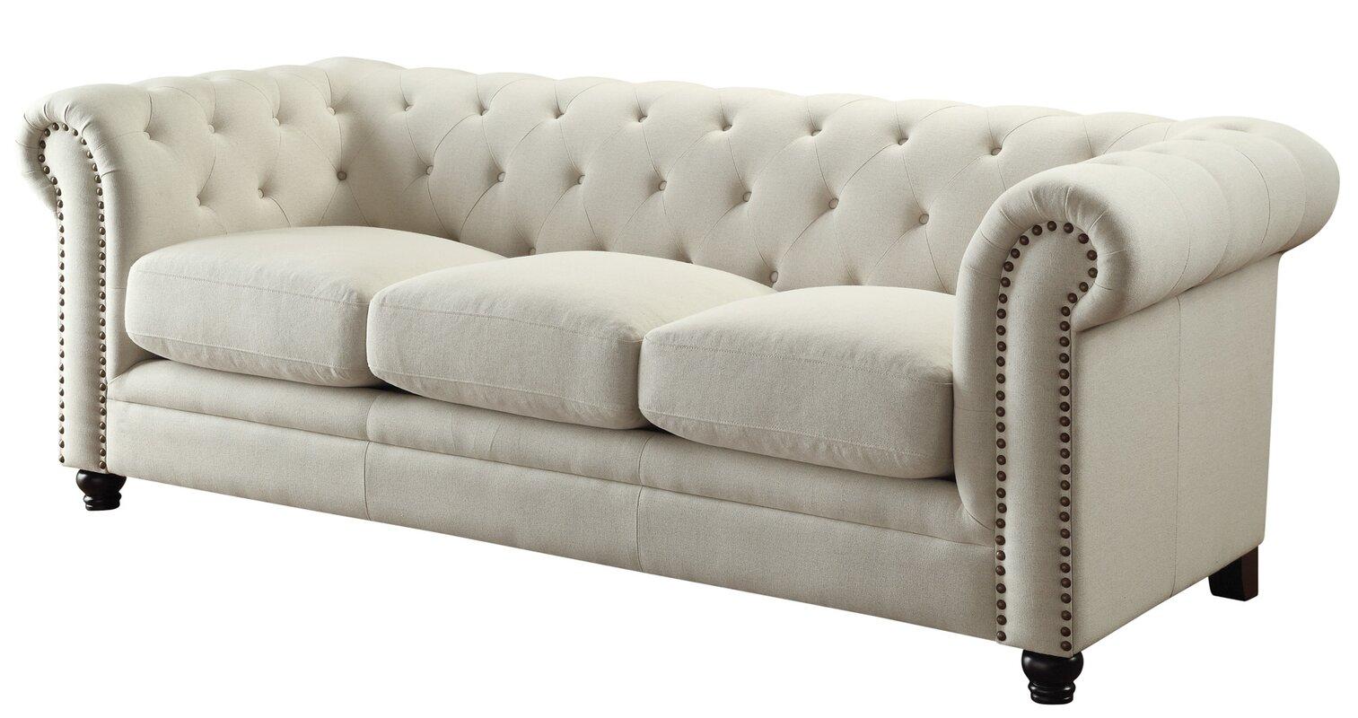 willa arlo interiors dalila upholstered chesterfield sofa reviews wayfair. Black Bedroom Furniture Sets. Home Design Ideas