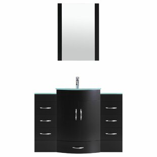 Peterman 48 Single Bathroom Vanity Set with Mirror by Orren Ellis