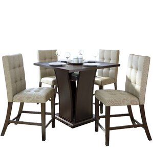 Grayslake Traditional 5 Piece Counter Height Dining Set by Three Posts