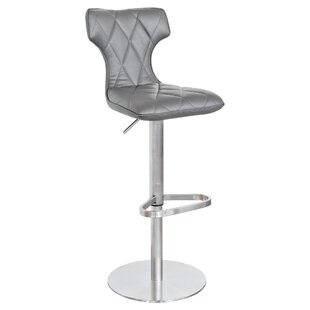 Caius Height Adjustable Swivel Bar Stool By Metro Lane