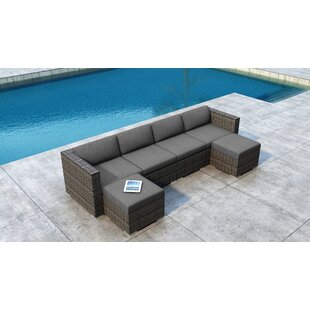 Look for Gilleland 6 Piece Sectional Set with Sunbrella Cushion Inexpensive