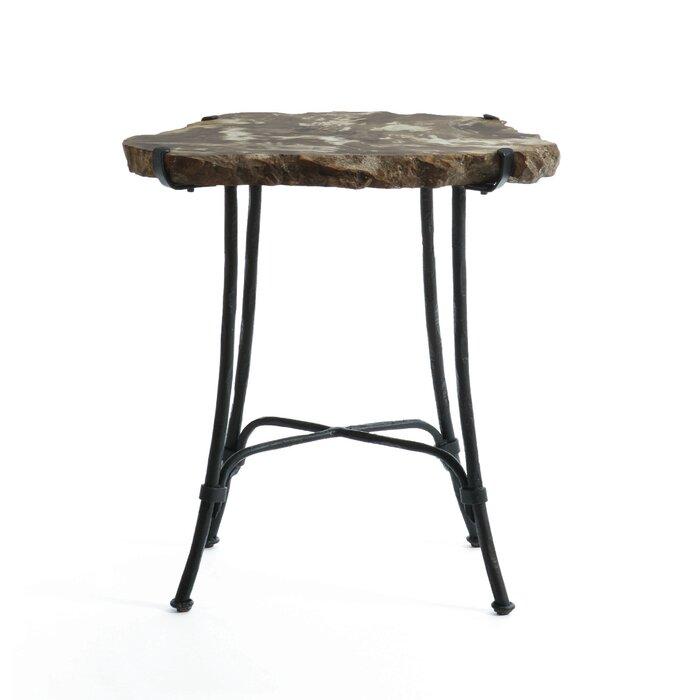 Enjoyable Petrified Wood Slab End Table Machost Co Dining Chair Design Ideas Machostcouk