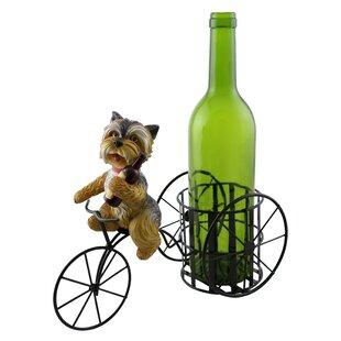 Tiffaney Cute Shih Tzu Dog 1 Bottle Tabletop Wine Rack