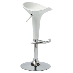Melba Height Adjustable Swivel Bar Stool By Mercury Row