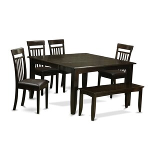 Pilning 6 Piece Wood Dining Set by August..