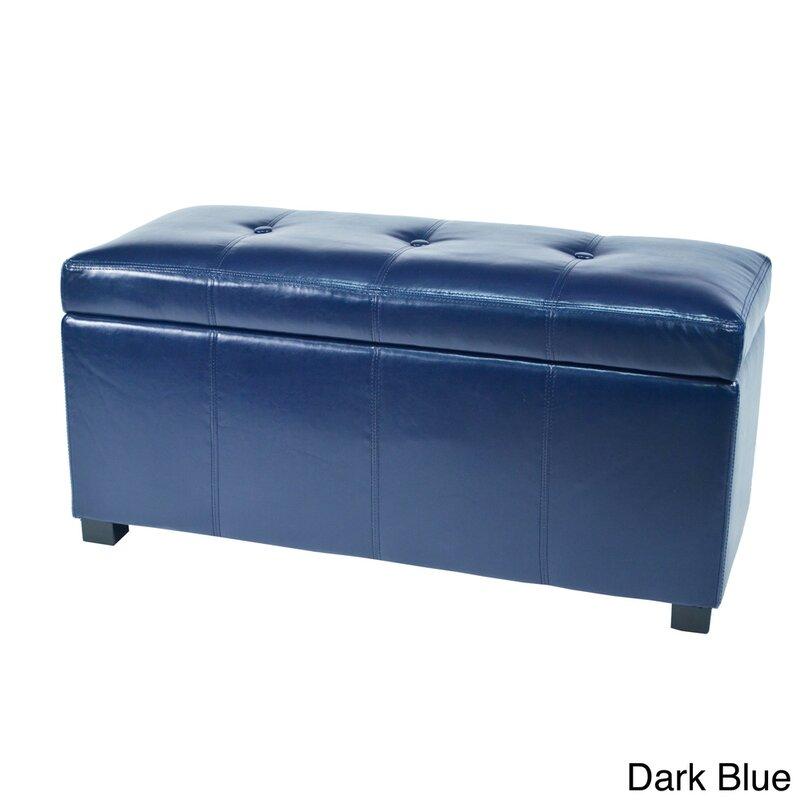 Borchardt Faux Leather Storage Bench