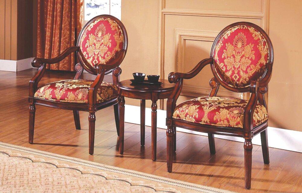 Astoria Grand Ambassador 3 Pieces Living Room Armchair Set ...