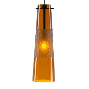 1-Light Cone Pendant by Orren Ellis