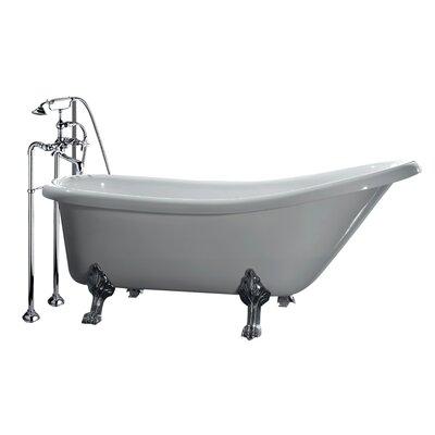 Clawfoot 66  x 28  Acrylic Slipper TubOve Decors Clawfoot 66  x 28  Acrylic Slipper Tub   Reviews   Wayfair. Clawfoot Baby Bath Tub. Home Design Ideas