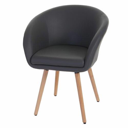 Armlehnstuhl Cree   Küche und Esszimmer > Stühle und Hocker > Armlehnstühle   Grau   Kunstleder - Metall - Massivholz   Norden Home