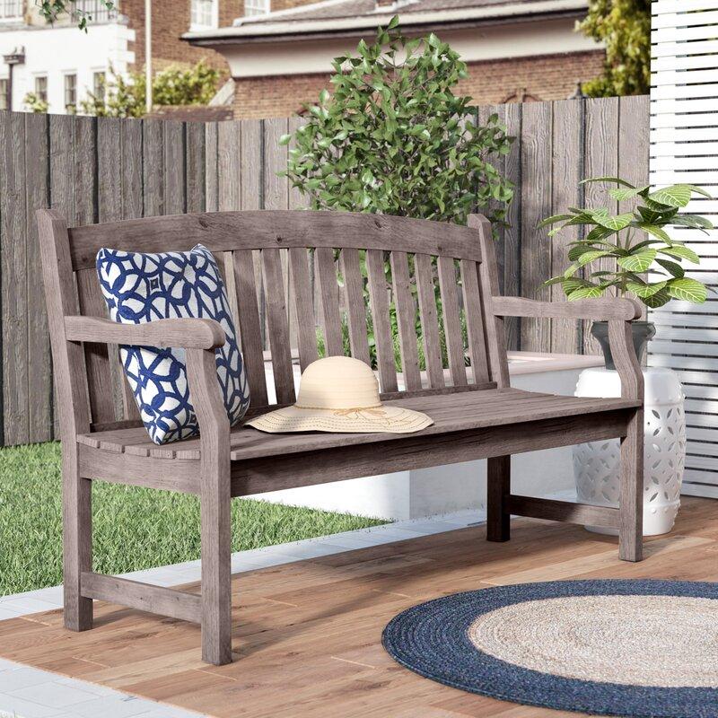 Sol 72 Outdoor™ Manchester Wooden Garden Bench & Reviews ...
