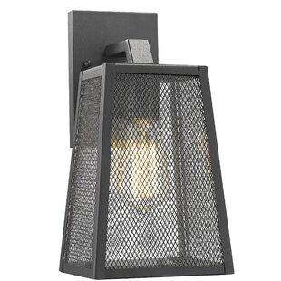 Charlene Industrial Textured Outdoor Wall Lantern