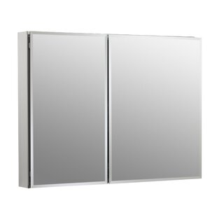 35 x 26 Aluminum Two-Door Medicine Cabinet with Mirrored Doors, Beveled Edges Kohler