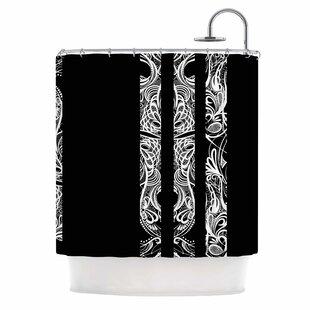 U0027Linesu0027 Vector Art Deco Shower Curtain