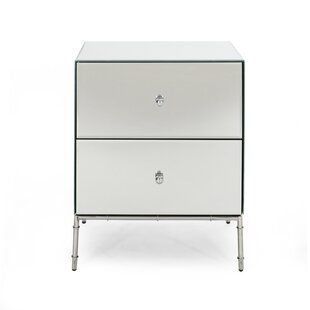 Rigby Modern Mirrored 2 Drawer Accent Chest by Mercer41