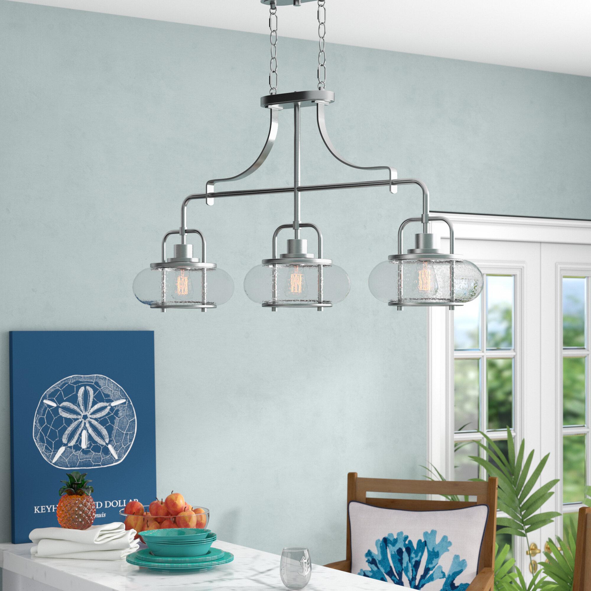 Beachcrest Home Braxton 3-Light 60W Kitchen Island Pendant & Reviews ...