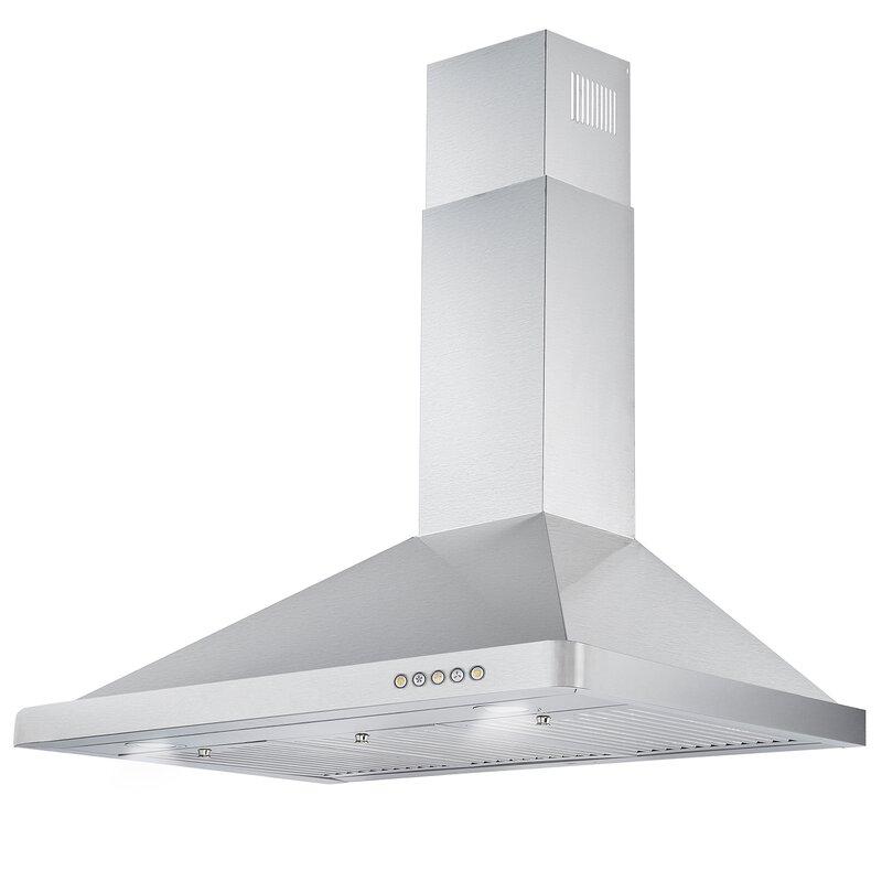 Cosmo 36 380 Cfm Convertible Wall Mount Range Hood In Stainless Steel Reviews Wayfair