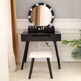 Anabella Vanity Set with Stool and Mirror by George Oliver
