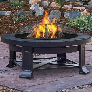 Real Flame Steel Wood Burning Fire Pit