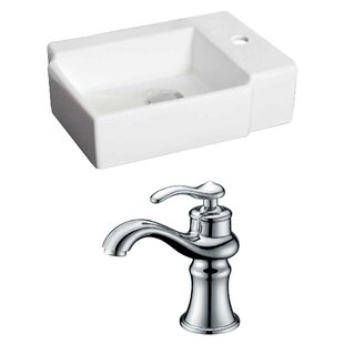 Reviews Ceramic Rectangular Vessel Bathroom Sink with Faucet By Royal Purple Bath Kitchen