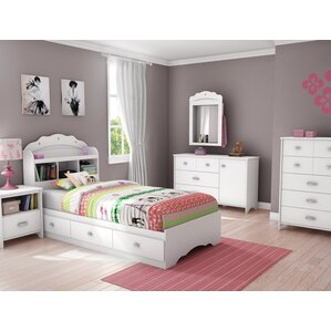 Elegant Tiara Twin Platform Configurable Bedroom Set
