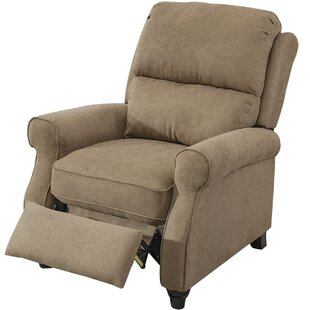 Ferebee Pushback Roll Arm and Easy to Push Mechanism Manual Recliner Winston Porter
