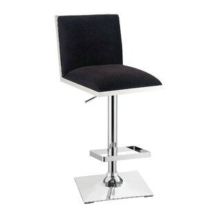 Abbigail Adjustable Height Swivel Bar Stool Orren Ellis