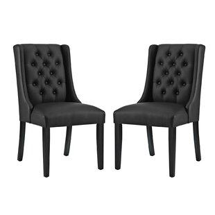 Red Barrel Studio Schoenfeld Upholstered Dining Chair (Set of 2)