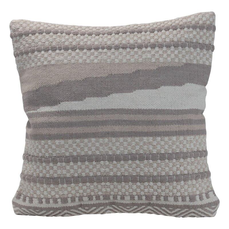 Dakota Fields Hand Woven Decorative Square Cotton Pillow Cover Insert Wayfair