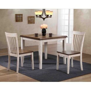 Culbertson 3 Piece Solid Wood Dining Set