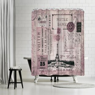Lebens Art Nostalgic Paris Single Shower Curtain
