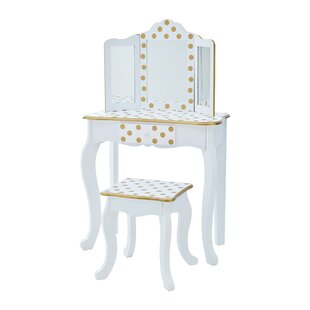 Dayanara Dressing Table Set With Mirror By Harriet Bee