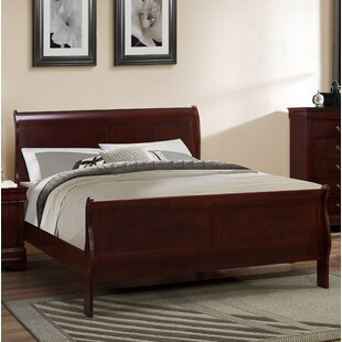 Laurel Foundry Modern Farmhouse Guffey Twin Platform Bed in Cherry