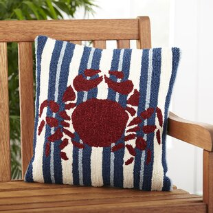 Red Crab Outdoor Pillow Cover