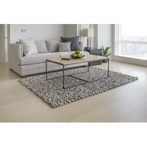 Wool Felt Hand-Tufted Gray/Whi...