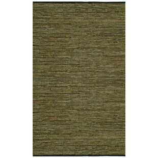 Look for Sandford Flatweave Cotton Green/White Area Rug By Latitude Run