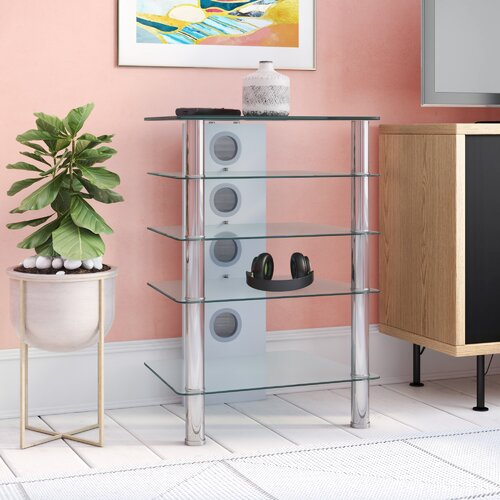 HiFi-Rack Prince of Wales | Wohnzimmer > TV-HiFi-Möbel > HiFi-Racks | Transparent | All Home